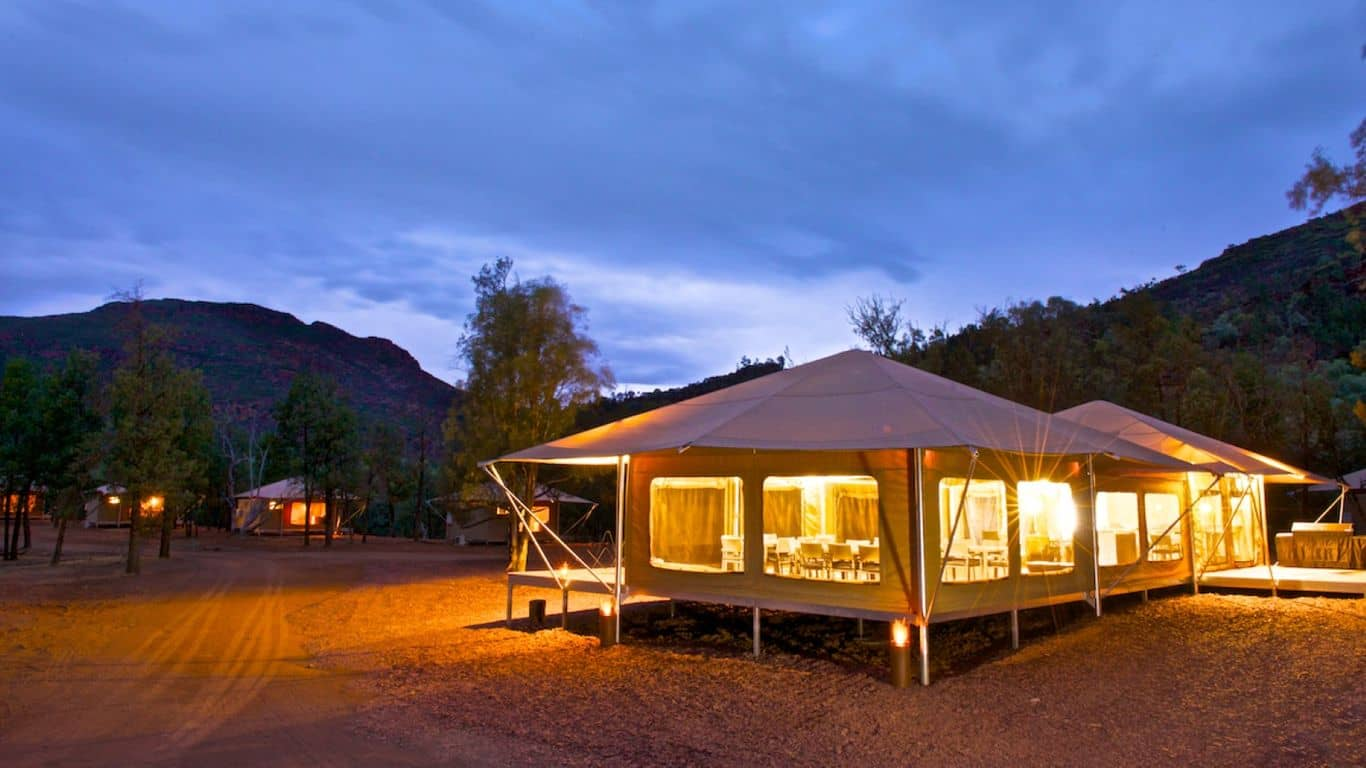 Safari Tent projects by mdesign, a building design practice that operates on the Sunshine Coast.