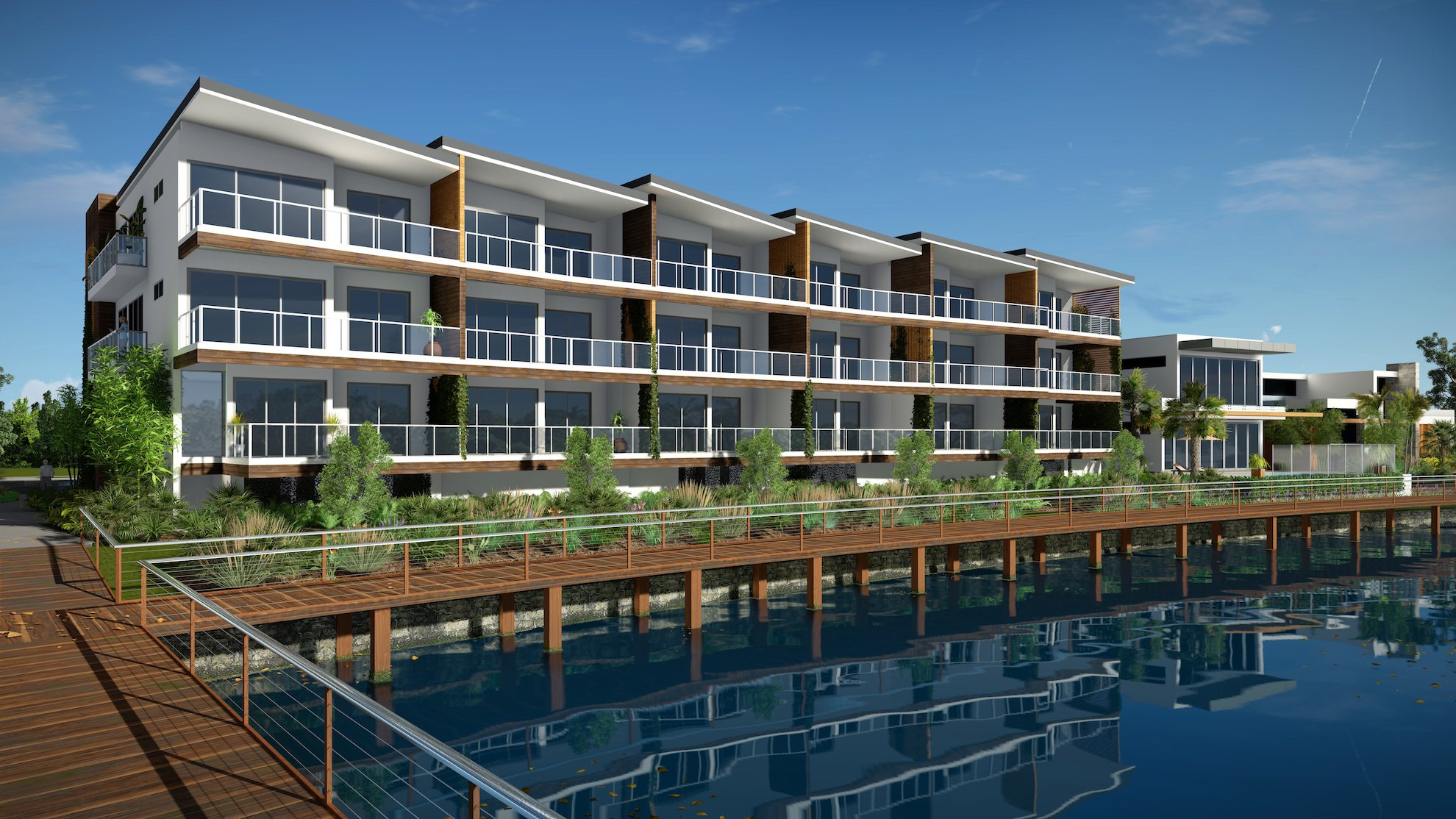 SUNSHINE COVE river project by mdesign, a building design practice that operates on the Sunshine Coast.
