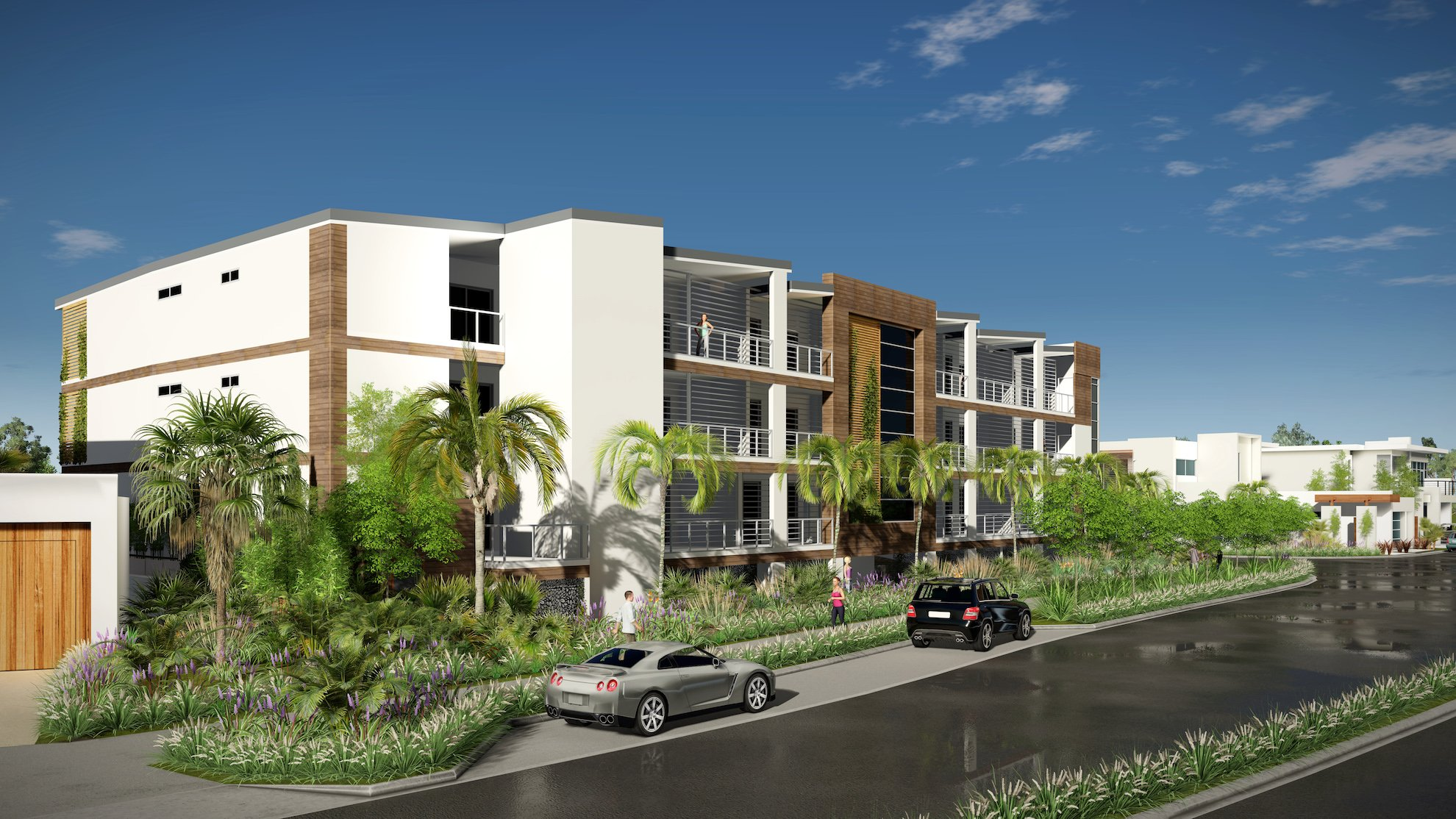 SUNSHINE COVE street project by mdesign, a building design practice that operates on the Sunshine Coast.